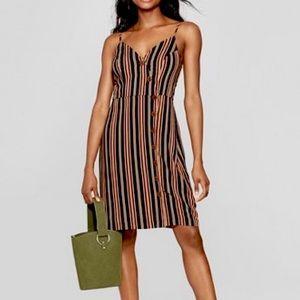 Xhilaration Button Front Strappy Dress L